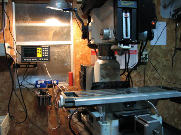 2 Axis magnetic kit on a round column benchtop mill