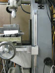 Typical mounting of a magnetic scale on the Z axis