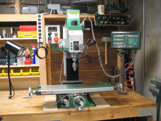 3 axis DRO PROS glass kit on a benchtop mill