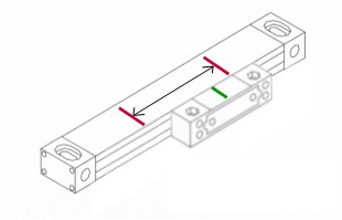 During scale operation, the trolley mark should always stay between the two end marks