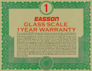 1 Year Digital Readout Warranty on all EASSON brand glass scale kits!
