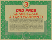 3 Year Digital Readout Warranty on all DROPROS brand glass scale kits!